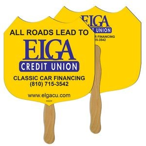 Interstate Sign Hand Fan Full Color (2 Sides)